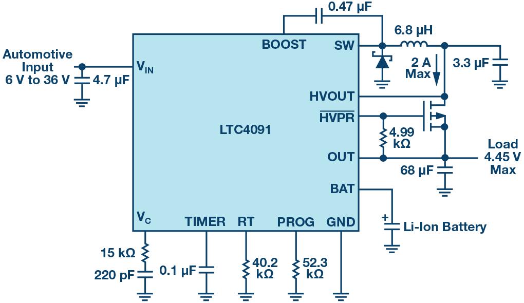 Схема LTC4091