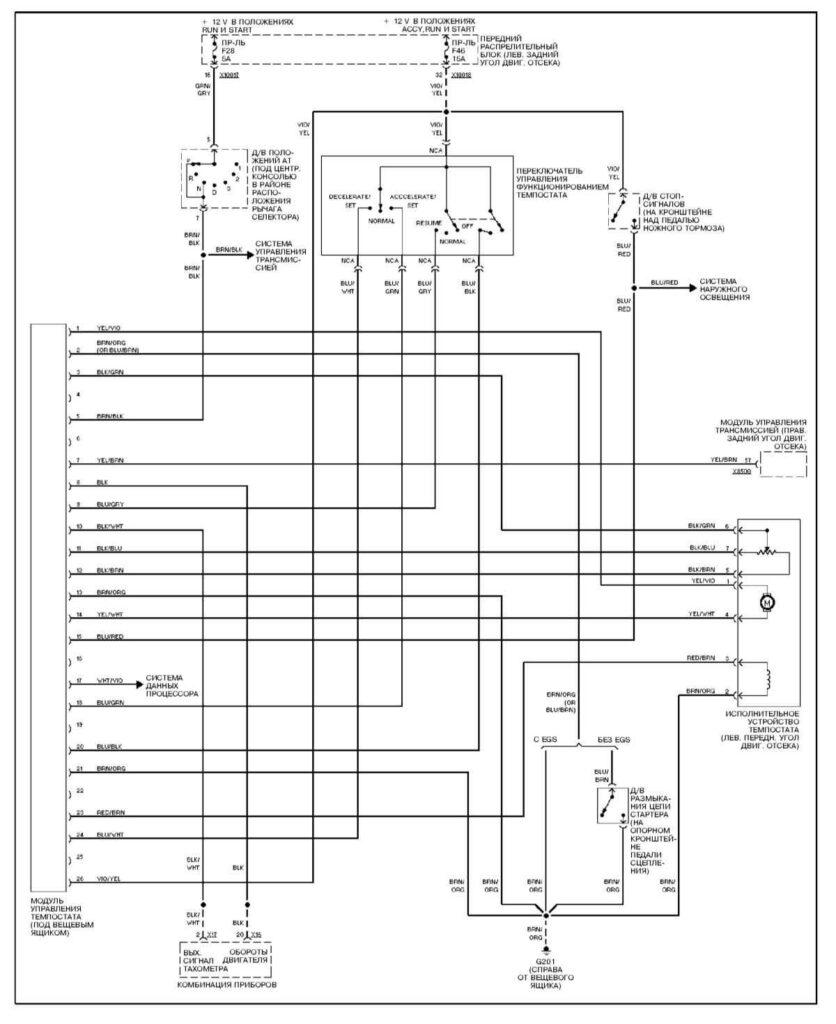 Электросхема модуля управления скоростью