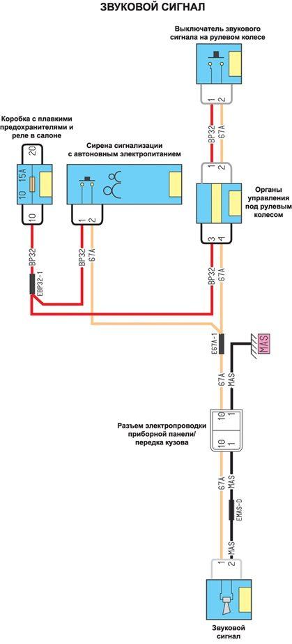 Звуковой сигнал - принципиальная схема