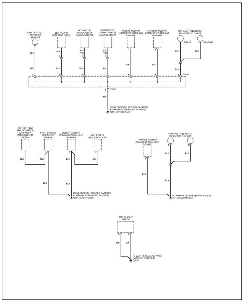 Схема распределение заземления Kia Sportage, схема 3