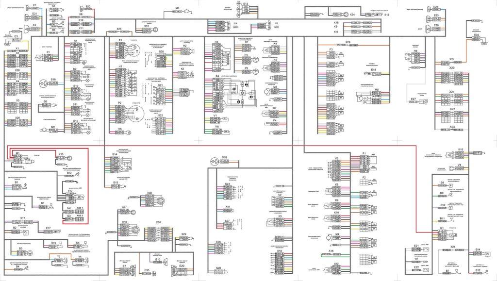 Общая электросхема КАМАЗ